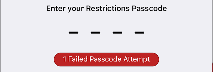 Recover Restrictions Passcode for iOS
